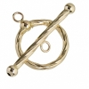Gold-filled 14kt Toggle Circle Rope Wrap 20mm